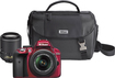 Nikon - D3300 Dslr Camera With 18-55mm Vr And 55-200mm Vr Lenses - Red