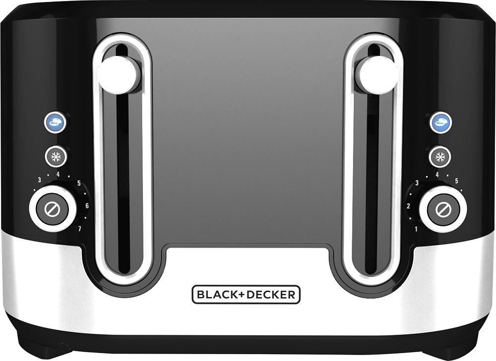 Black & Decker - 4-Slice Extra-Wide-Slot Toaster - Black