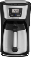 Black & Decker - 12-cup Coffeemaker - Silver/black 4413524