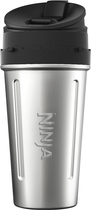 Ninja - Nutri Ninja 24-oz. Cup - Black/stainless Steel 4413704