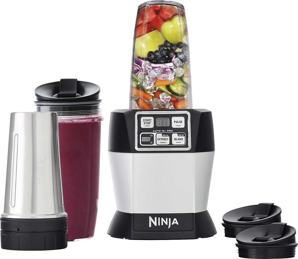 Ninja - Nutri Ninja Auto-iq Pro Complete 4-speed Blender - Black 4413705