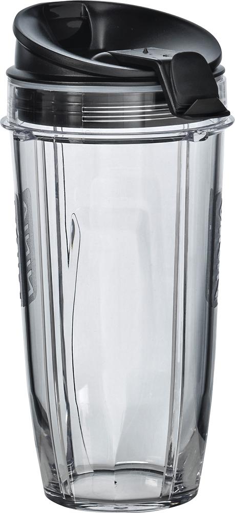 Ninja - 24-Oz. Tritan Nutri Ninja Cups with Sip & Seal Lids (2-Pack) - Black/Clear
