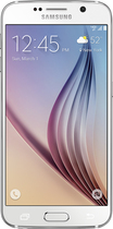 Samsung - Galaxy S6 4G LTE with 128GB Memory Cell Phone - White Pearl (Verizon Wireless)
