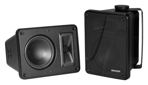 Kicker - 6.5 2-Way Full-Range Speakers (Pair) - Black