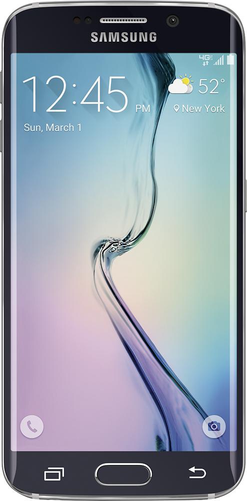 Samsung - Galaxy S6 edge 4G LTE with 32GB Memory Cell Phone - Black Sapphire (Verizon Wireless)