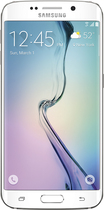 Samsung - Galaxy S6 edge 4G with 128GB Memory Cell Phone - White Pearl (AT&T)