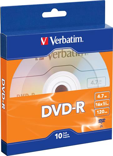 Verbatim - 16x DVD-R Discs (10-Pack) - Silver
