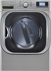 LG - SteamDryer 9.0 Cu. Ft. 14-Cycle Mega-Capacity Steam Electric Dryer - Graphite Steel