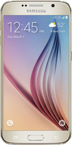 Samsung - Galaxy S6 with 32GB Memory Cell Phone - Gold (Sprint)