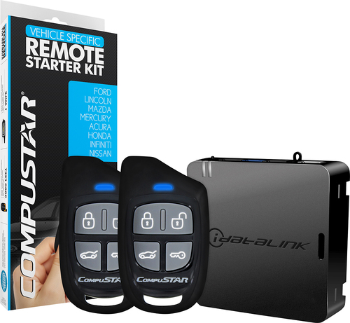 CompuStar - Remote Starter for Select Ford, Honda and Nissan Vehicles - Black