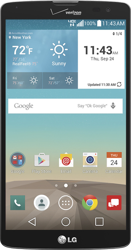 Verizon Wireless Prepaid - LG G Vista 4G LTE with 8GB Memory No-Contract Cell Phone - Black