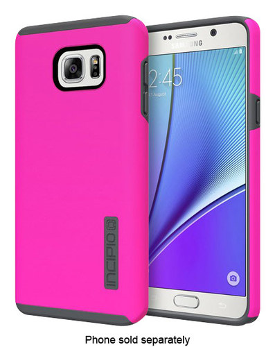 Incipio - DualPro Hard Shell Case for Samsung Galaxy Note 5 Cell Phones - Pink/Gray