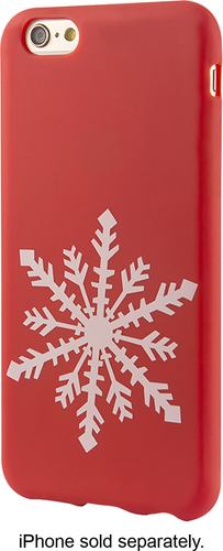 Dynex™ - Soft Shell Case for Apple® iPhone® 6s Plus - Red/White