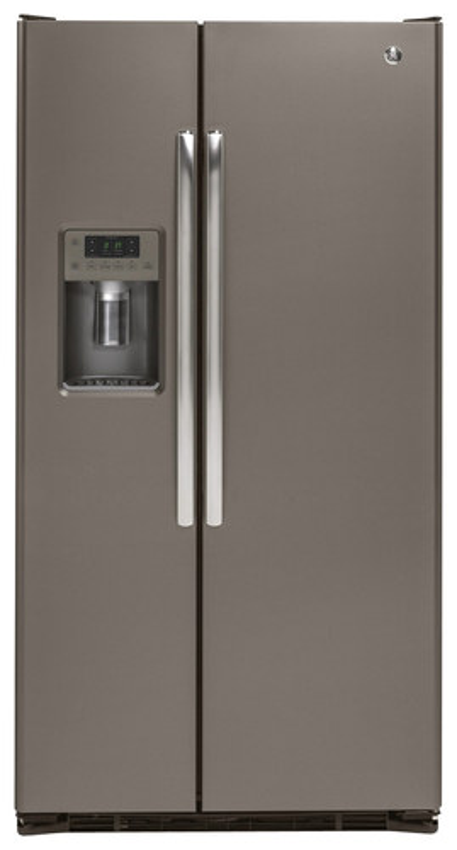 GE - 21.9 Cu. Ft. Side-by-Side Counter-Depth Refrigerator - Slate
