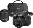 Nikon - D3300 DSLR Camera with 18-55mm and 55-200mm VR Lenses - Black