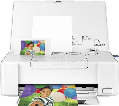 Epson - PictureMate PM-400 - C11CE84201 Wireless Photo Printer - White