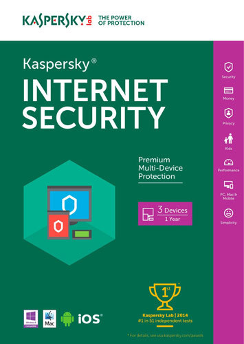 Internet Security (3-User) (1-Year Subscription) Windows|Mac|Android|iOS KAS018800F105