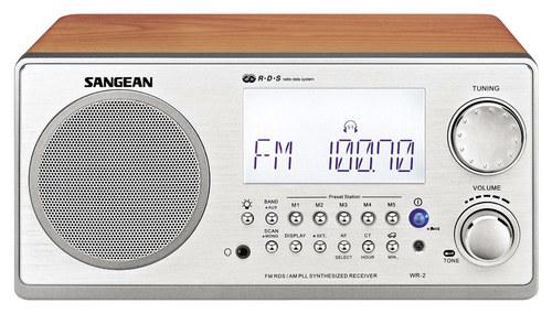 Sangean - AM/FM-Rbds Wooden Cabinet Digital Tuning Receiver - Walnut