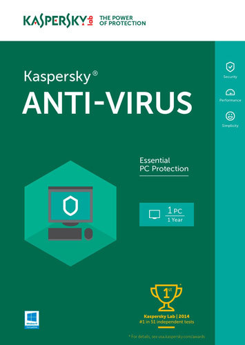 Kaspersky Lab KAS018800F103 Kaspersky Anti-Virus 2016 (1 User) Windows