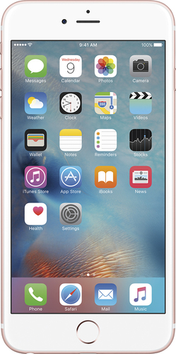 Apple - Geek Squad Refurbished iPhone 6s Plus 64GB - Rose Gold (At&t)
