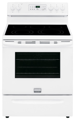 Frigidaire - Gallery 5.7 Cu. Ft. Self-Cleaning Freestanding Electric Convection Range - White