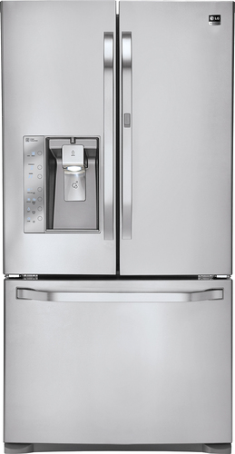LG - Studio 24 Cu. Ft. Door-in-Door Counter-Depth French Door Refridgerator - Stainless Steel