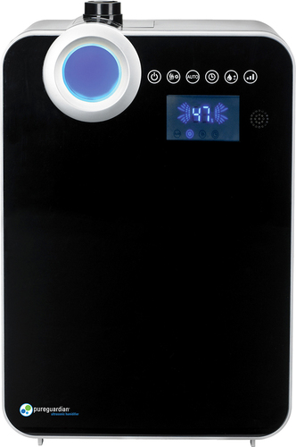 PureGuardian - Elite 120-Hour Ultrasonic Humidifier - Black