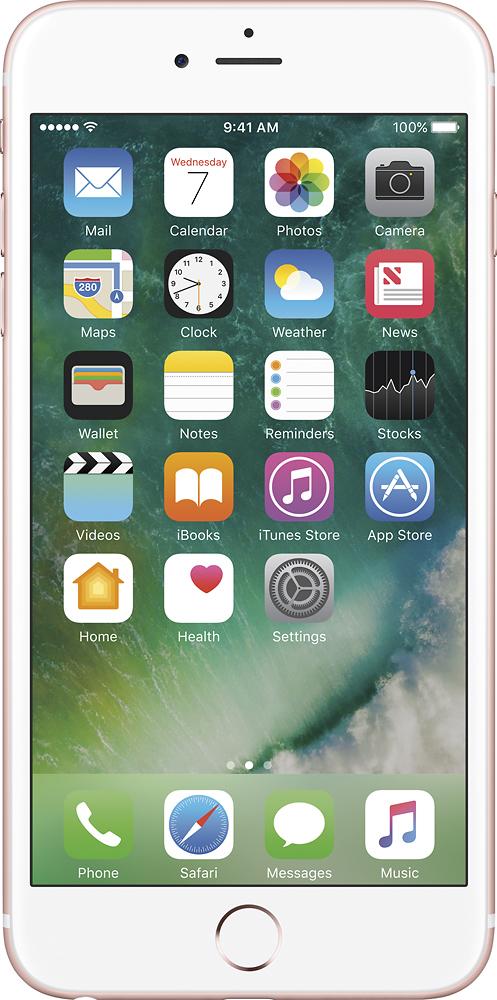 Apple - Iphone 6s Plus 64gb - Rose Gold (verizon Wireless)