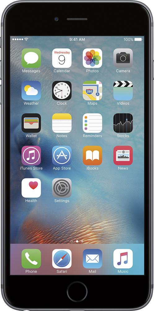 Apple - Geek Squad Refurbished Iphone 6s Plus 16gb - Space Gray (verizon Wireless)