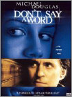 Don't Say a Word (DVD) (Enhanced Widescreen for 16x9 TV) (Eng/Spa) 2001