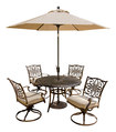 Hanover - Traditions Patio Dining Set (5-piece) - Aluminum/tan 4467210