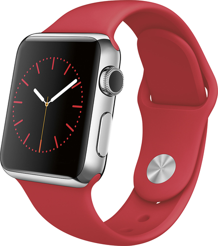 Apple MLLD2LL/A Watch 38mm Stainless Steel Case Red Sport Band