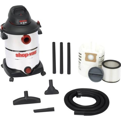 Shop-Vac - 12 Gallon SS Wet/Dry Vacuum Cleaner - Black, White