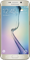 Samsung - Galaxy S6 edge 4G LTE with 128GB Memory Cell Phone - Gold (Verizon Wireless)