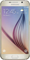 Samsung - Galaxy S6 4G LTE with 128GB Memory Cell Phone - Gold (Verizon Wireless)