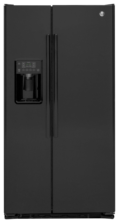 GE - 21.9 Cu. Ft. Counter-Depth Refrigerator - High-Gloss Black