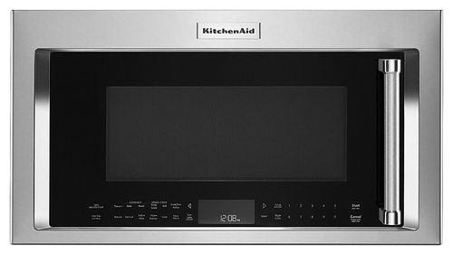 KitchenAid - 1.9 Cu. Ft. Convection Over-the-Range Microwave with Sensor Cooking - Stainless Steel