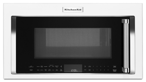KitchenAid - 1.9 Cu. Ft. Convection Over-the-Range Microwave - White