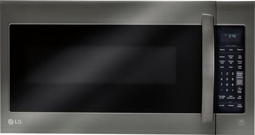 LG - 2.0 Cu. Ft. Over-the-Range Microwave with Sensor Cooking - Black Stainless Steel