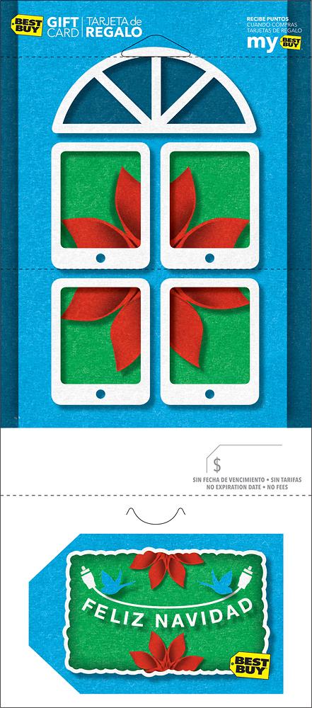 Best Buy Gc - $50 Poinsettia Feliz Navidad Gift Card