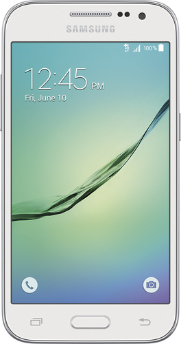 T-Mobile Prepaid - Samsung Galaxy Core Prime 4G with 8GB Memory No-Contract Cell Phone - White