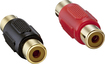 Insignia™ - RCA Plug Couplers (2-Pack) - Red/Black