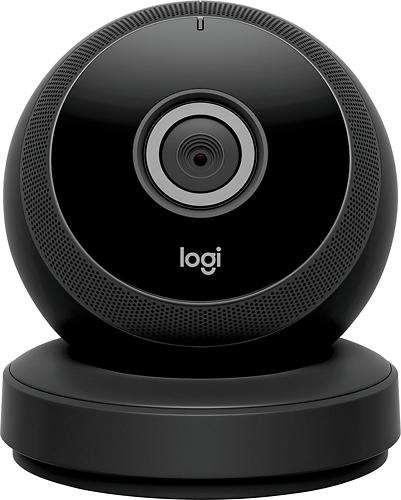 Logitech - Logi Circle Wireless HD Video Security Camera with 2-way talk - Black