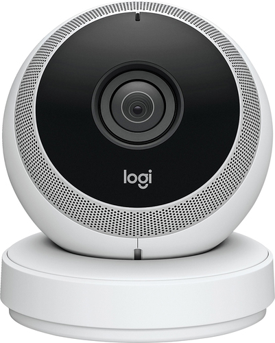 Logitech - Logi Circle Wireless HD Video Security Camera with 2-way talk - White