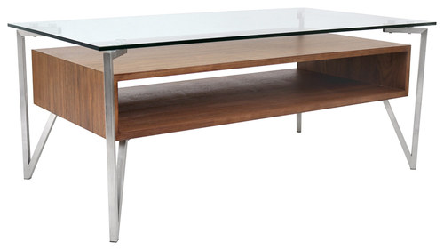LumiSource - Hover Coffee Table - Walnut (Brown)