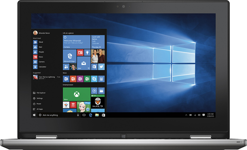 Dell - Geek Squad Certified Refurbished 2-in-1 15.6 Touch-Screen Laptop - Intel Core i5 - 8GB Memory - 500GB Hard Drive - Foggy Night