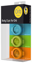 Fitbug - Belt Clips for Fitbug Orb Activity Trackers (3-Count) - Green/Blue/Orange