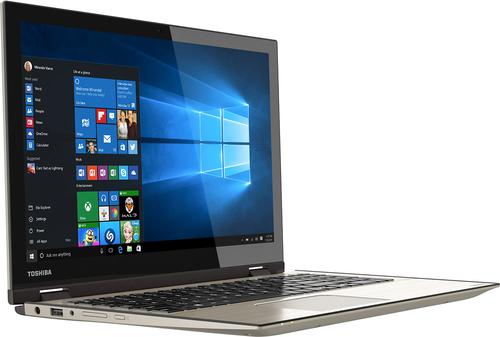 "Toshiba Satellite Radius 15 2-in-1 15.6"" Touch-Screen Laptop Intel Core i7 8GB Memory 1TB Hard Drive Brushed Metal P55W-C5314"