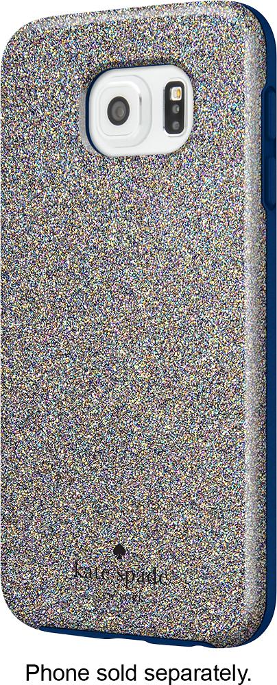 kate spade new york - Hybrid Hard Shell Case for Samsung Galaxy S6 Cell Phones - Multi Glitter/Navy
