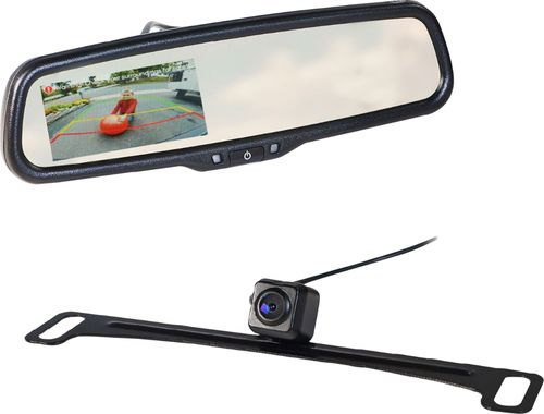 EchoMaster - Rear-View Mirror Back-Up Camera Kit - Black